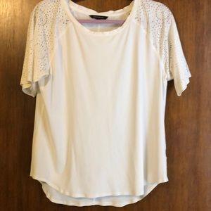 Banana republic short sleeve white blouse